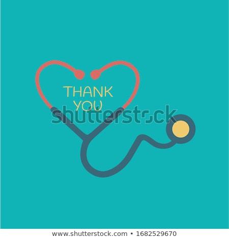 Thank You Red Vector Icon Design Stock photo © rizwanali3d