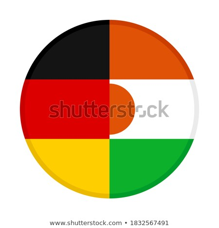 Германия Нигер флагами головоломки изолированный белый Сток-фото © Istanbul2009