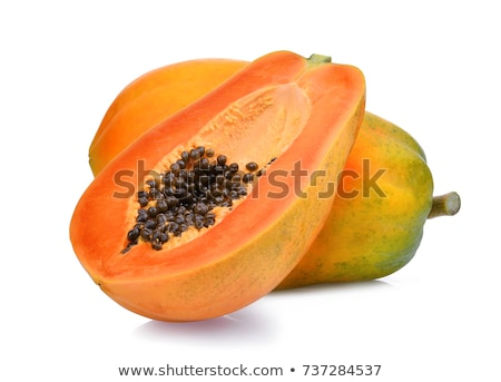 papaya in white background Stock photo © shutswis