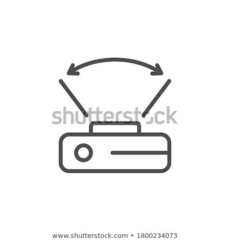 Széles látószögű kamera kép lencse tükör fotó Stock fotó © alphaspirit