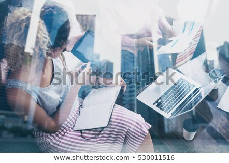Strategy Building on Laptop in Modern Workplace Background. Stock photo © tashatuvango