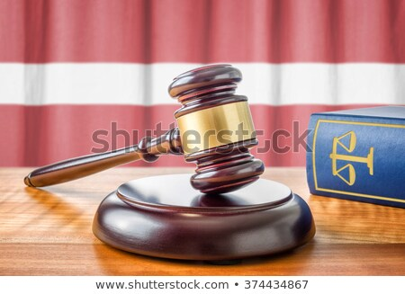 A gavel and a law book - Latvia Stock photo © Zerbor