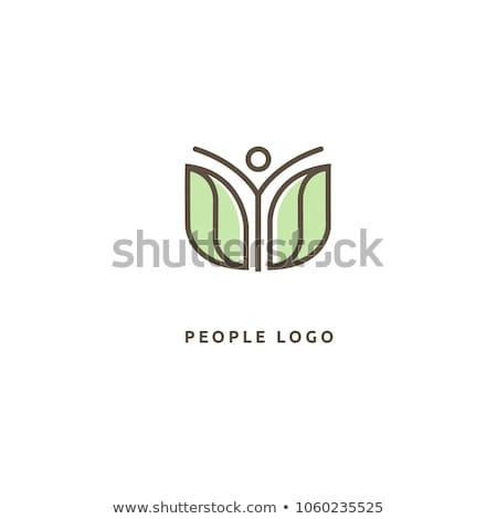 Gezond leven logo sjabloon leuk mensen icon Stockfoto © Ggs