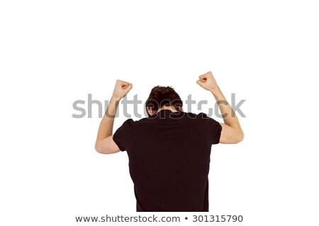 Knap mannelijke vuist depressie verdriet Stockfoto © wavebreak_media