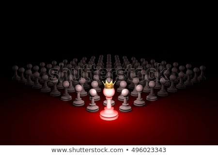 Great authority (chess metaphor). 3D rendering illustration Stock photo © grechka333