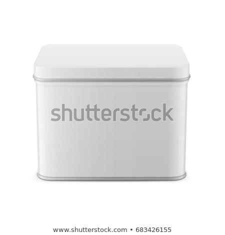 Square Metal Tin Can Stock photo © dezign56