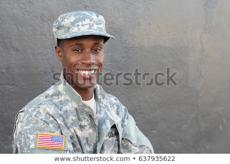 A young smiling soldier Stock photo © bluering
