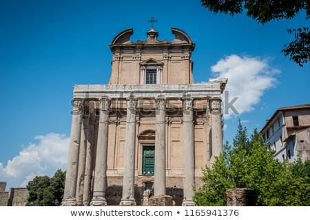 древних · римской · храма · Рим · Италия · пейзаж - Сток-фото © jirivondrous