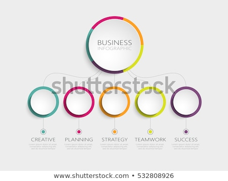 A colourful infographics Stock photo © bluering