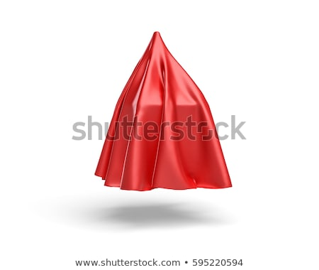 окна покрытый красный ткань изолированный белый Сток-фото © pakete
