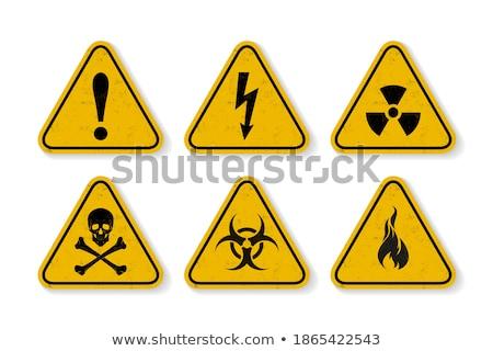 radiación · peligro · simple · negro · icono · sombra - foto stock © Evgeny89