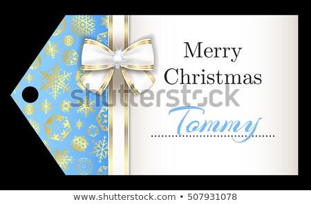 Stock fotó: Luxus · égbolt · kék · karácsony · névtábla · arany