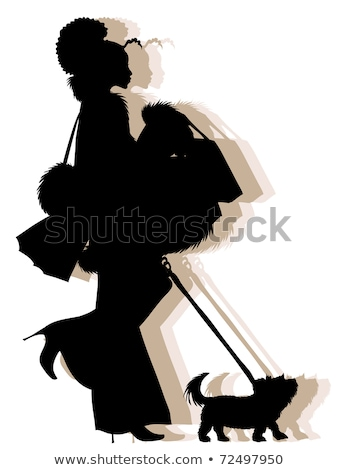 African American Shopping Girl Silhouette Stock photo © illustrart
