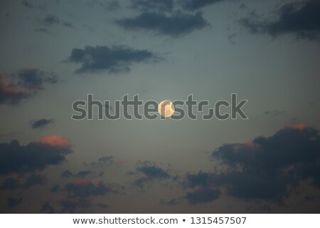 Fullmoon and fluffy clouds as background Stock photo © bluering