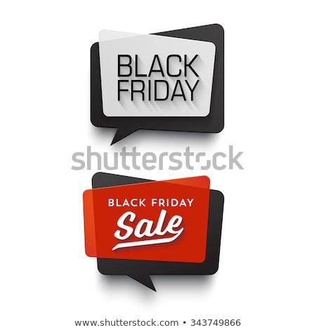 Black friday texte style design noir vacances Photo stock © SArts
