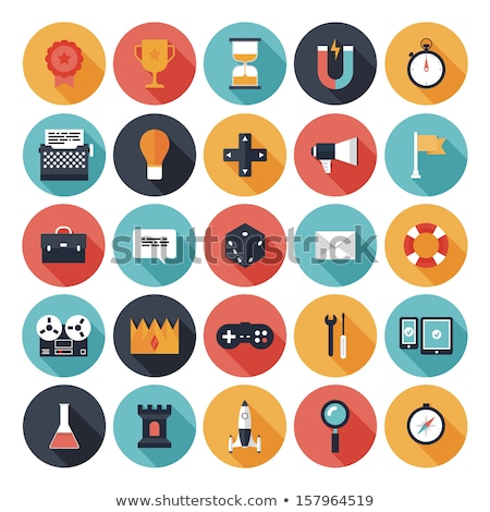 Set of modern flat design gadget icons Stock photo © Decorwithme