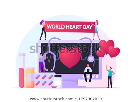 Hospital female pulse heartbeat monitoring Stock photo © vilevi