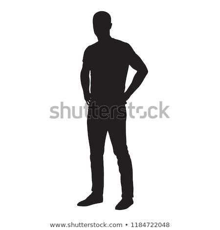 Stockfoto: Silhouet · handen · vorm · hart · vrouw · hand