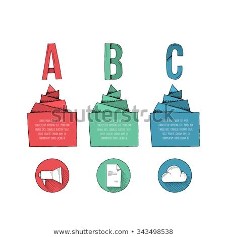 Három lépcső opció infografika sablon nyíl Stock fotó © SArts