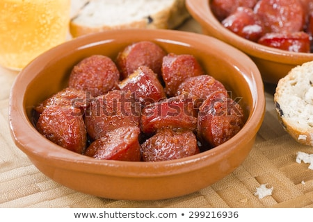 Chorizo salsicha maçãs cidra janela bar Foto stock © monkey_business