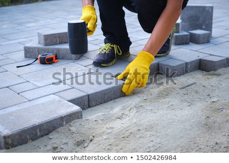 road with paved stone blocks Stock photo © ssuaphoto