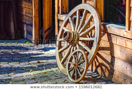 Wagon with wooden wheels Stock photo © bluering