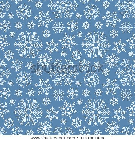 Stock photo: Seamless Pattern Snowflakes Endless Background.