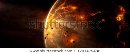 Idegen bolygó fogyatkozás stílus világítás Stock fotó © albund