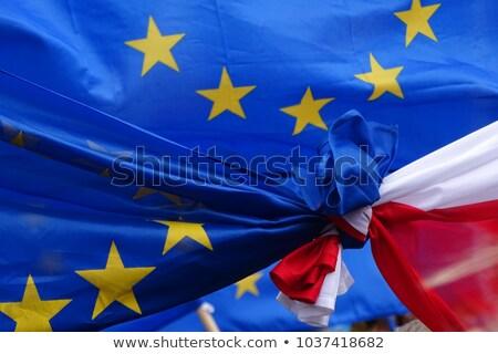 EU flag with Poland country. European Union membership Poland Stock photo © tkacchuk