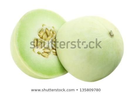 Melão seção transversal tabela fruto círculo fotografia Foto stock © user_11224430