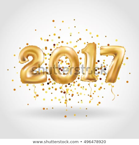 year 2017 with metallic letters stock photo © ankarb