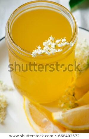 elderflower cordial in glass jar .style vintage Stock photo © zoryanchik