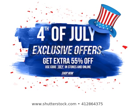 American Independence Day. 4th of July Exclusive Offers Sale, Sale Poster. Template background for g Stock photo © Leo_Edition