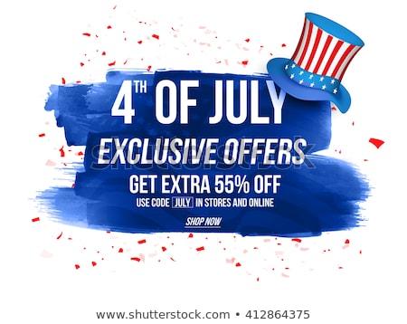 Amerikai nap negyedike exkluzív vásár poszter Stock fotó © Leo_Edition