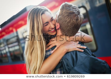 Stock photo: couple together again
