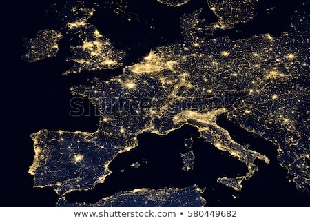 Europe city lights map Stock photo © ixstudio