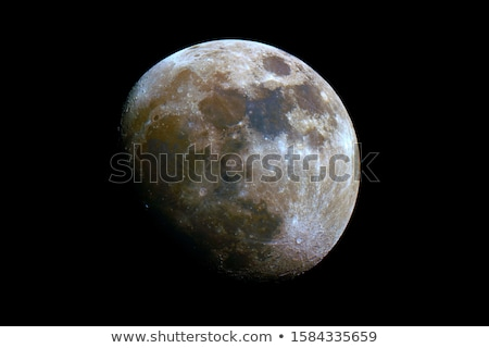 Stock photo: Waxing Gibbous Moon in Blue Sky