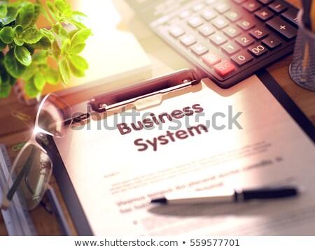 Stockfoto: Business · integratie · 3d · render · werken · tabel