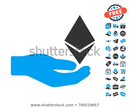 ethereum offer hand flat icon with collection stock photo © ahasoft