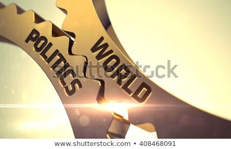 Siyasi işbirliği altın madeni 3D Stok fotoğraf © tashatuvango