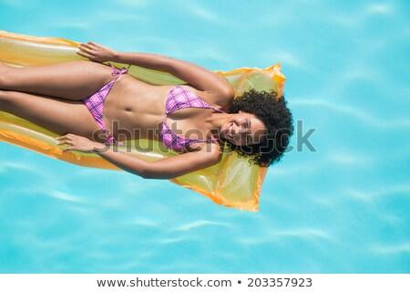 Vreedzaam vrouw gelukkig lichaam schoonheid bikini Stockfoto © wavebreak_media