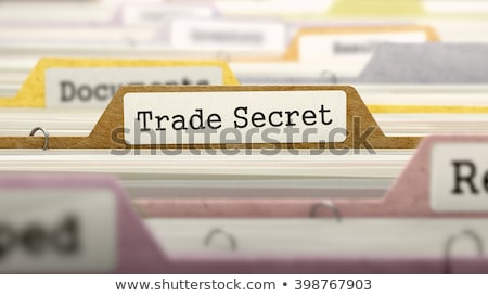 Folder Register with Secret. 3D. Stock photo © tashatuvango