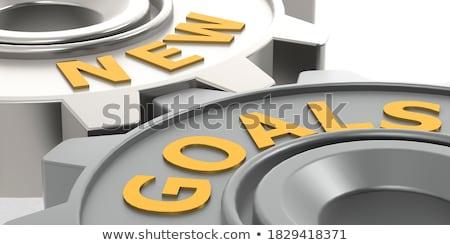 Target Management on Golden Gears. 3D Illustration. Stock photo © tashatuvango