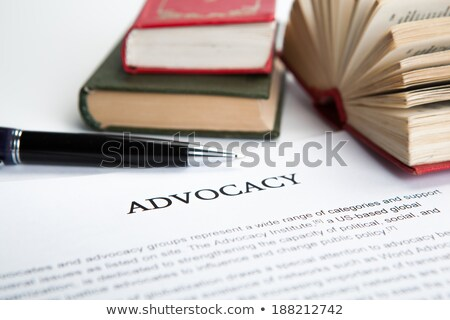 Advocacy  - Book Title. Stock photo © tashatuvango