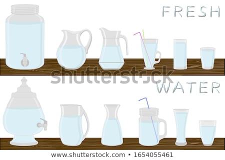 Különböző édesvíz illusztráció háttér művészet ital Stock fotó © bluering