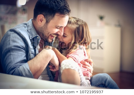 father tickling daughter Stock photo © IS2