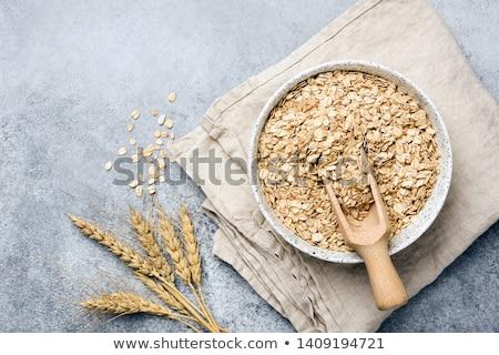 Száraz tekert kása tányér közelkép étel Stock fotó © Digifoodstock