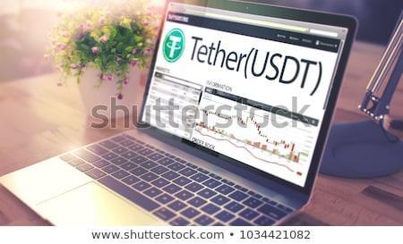 Laptop scherm 3D dynamica kosten moderne Stockfoto © tashatuvango