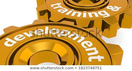 golden gears with growth strategy concept 3d illustration stock photo © tashatuvango