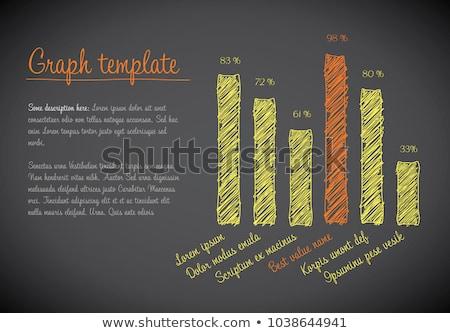 ベクトル 統計 列 垂直 グラフ テンプレート ストックフォト © orson